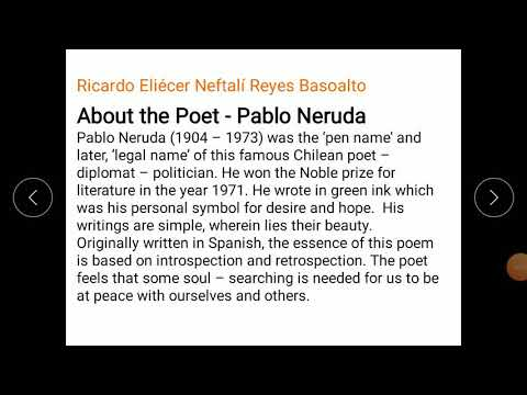Keeping quiet by Pablo Neruda class 12