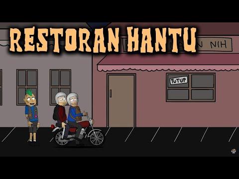 Download Video Makan Di Restoran Hantu | Animasi Horor Kartun Lucu | Warganet Life