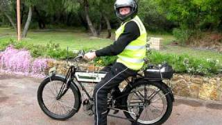 4. How to start a 1909 Triumph motorcycle