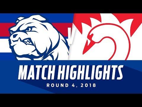 Western Bulldogs v Sydney Highlights - Round 4 2018 - AFL (видео)