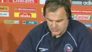 FIFA World Cup 2010 - Bielsa - Brazilian Superstars Do Not Scare Us - Chile Vs Brazil