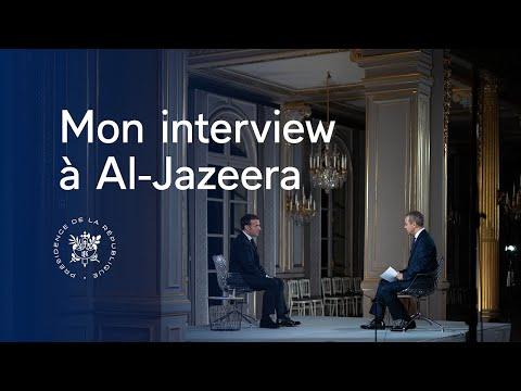 FRANCE: Interview du Président Emmanuel Macron à Al Jazeera.