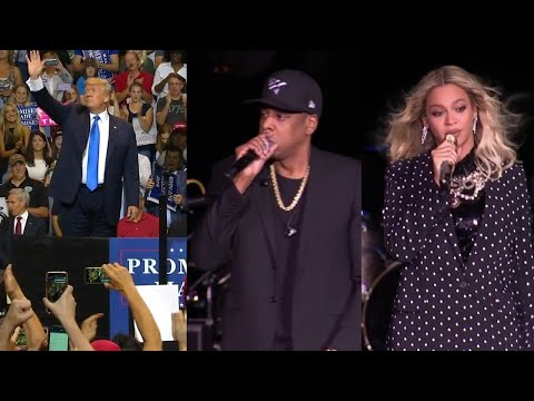 President Trump Claims He Draws a Larger Crowd Than Beyonce and Jay-Z