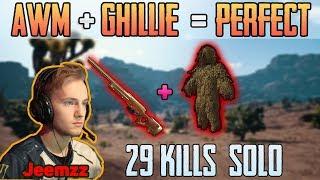 Video AWM + GHILLIE = PERFECT | Jeemzz 29 kills solo FPP MIRAMAR | PUBG HIGHLIGHTS TOP 1 #149 MP3, 3GP, MP4, WEBM, AVI, FLV Juni 2019