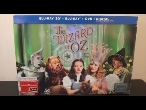 The Wizard Of Oz 75th Anniversary 3D Blu-Ray Box Set UNBOXING