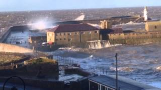 Whitehaven United Kingdom  City new picture : UK Raging Storm hits the Cumbrian Coast at Whitehaven.