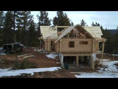 How to build a Log Home by Mitchell Dillman &quot;the Online carpenter&quot;