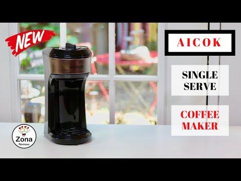 😍   AICOOK  ❤️ Single Serve Coffee Maker - Review    ✅