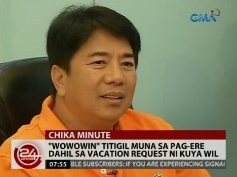 """Willie Revillame takes another break in """"Wowowin"""""""