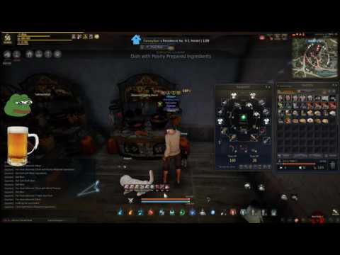 AFK POWER Level 1-second COOKING for MASSIVE Contribution CP Silver XP Milk Beer Black Desert Online