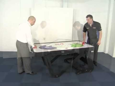 BCE Typhoon 6ft Air Hockey Table with Rolling Folding Legs – H6D-222