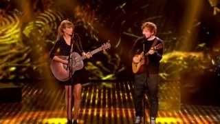 (HD) Taylor Swift and Ed Sheeran performing Everything has changed Live on the Britain's Got Talent Final.