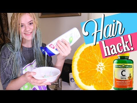Removing Hair Color WITHOUT Bleach! Vitamin C & Dandruff Shampoo! Part 4
