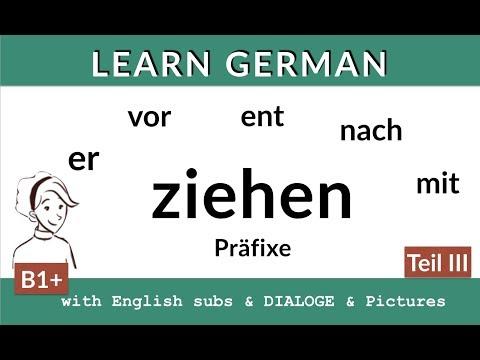 ziehen + Präfixe (III) - Lern Deutsch B2, C1 (видео)
