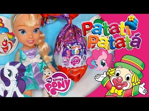 Imagens de feliz páscoa - Ovo de Páscoa My Little Pony Surpresa Elsa Frozen Kinder Meu Pequeno Pônei Patati Patata Abrindo