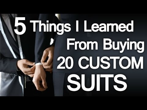 """days - http://goo.gl/10Xtfw - 5 Lessons Learned Buying 20 Custom Suits In 10 Days - Bespoke Clothing Mistakes To Avoid http://goo.gl/vYxbiJ Click Here to claim your FREE 47 page eBook """"7 Deadly..."""