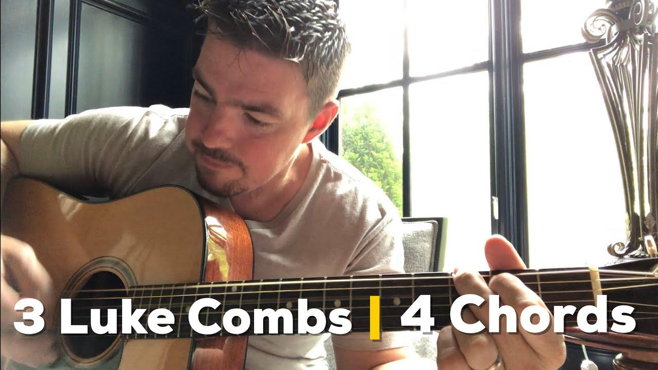 3 Luke Combs Songs 4 Same Chords Same Order (Guitar Lesson)