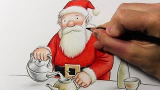 "Drawing Time Lapse: Santa Claus (""Father Christmas"" by Raymond Briggs)"