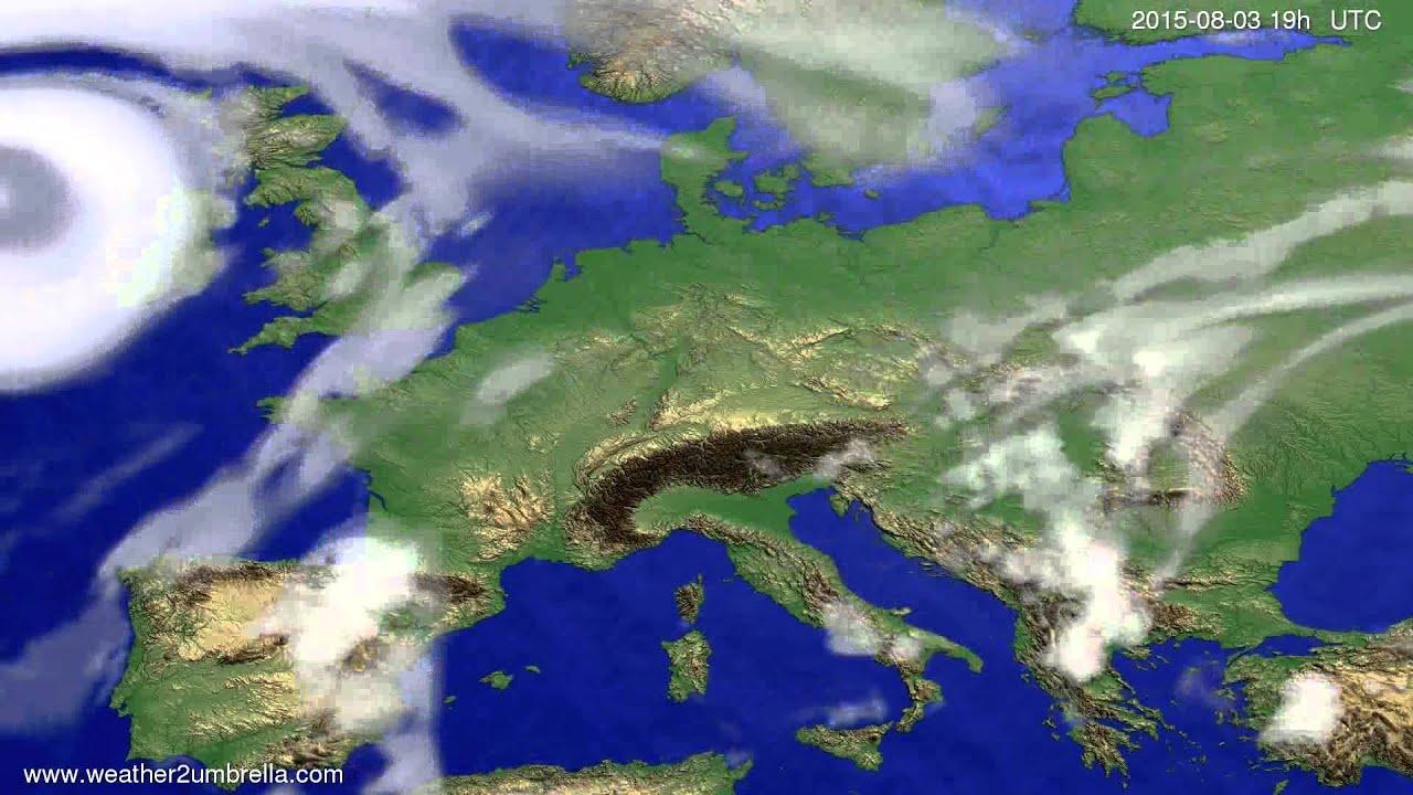 Cloud forecast Europe 2015-07-31