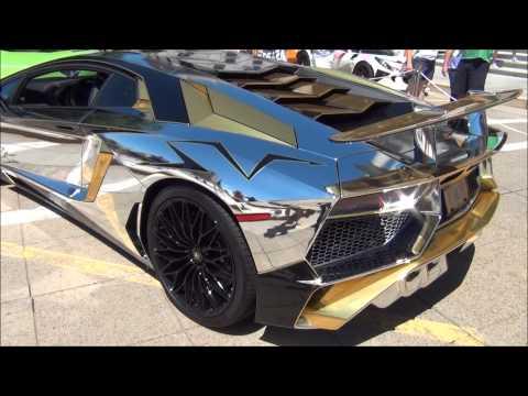 Lamborghini aventador tron gold
