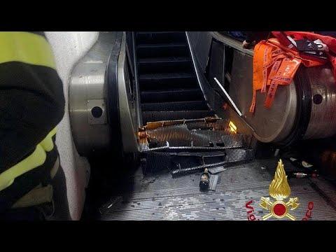 Δεκάδες τραυματίες από κατάρρευση κυλιομένης σκάλας στη Ρώμη (vid)…