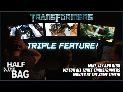 Three guys watch the first 3 Transformers videos simultaneously and discover how shockingly similar they are