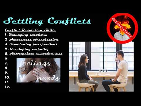 Settling Conflicts