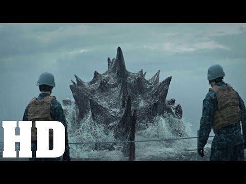 Godzilla Bridge Scene   MUTOs Attack Scene   Godzilla 2014 Movie Clip HD