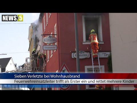 30.04.2017 (HO) Wohnung komplett ausgebrannt: Kreisbrandinspektor rettet Kinder über Haushaltsleiter