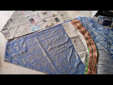 Video How to make a  umbrella cut lehenga from net saree with farma cutting download in MP3, 3GP, MP4, WEBM, AVI, FLV January 2017