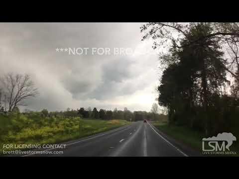4-14-19 Madison, VA - Severe Tornado-Warned Storms and Shelf Cloud