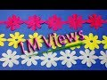 Paper cutting decoration-How to paper Cutting Flower Chain-christmas paper decorations step by step