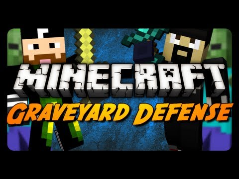 Minecraft: Graveyard Defense w/ CavemanFilms! - Pt. 1 (Zombie Mini-Game)