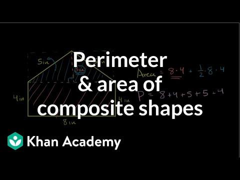 Perimeter Area Of Composite Shapes Video Khan Academy