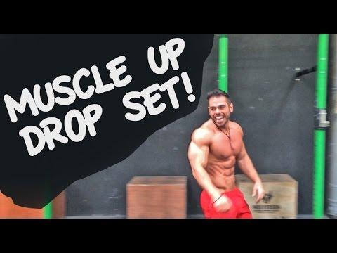 120kg Muscle Up Drop Set (120kg -115kg - 110kg- 100kg) (видео)