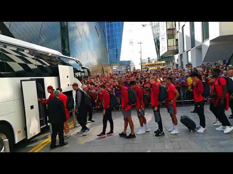 Liverpool Team Leaving The Marker Hotel (Liverpool V Napoli 4/8/18)