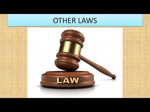 CO  OPERATIVE LAW & OTHER LAWS