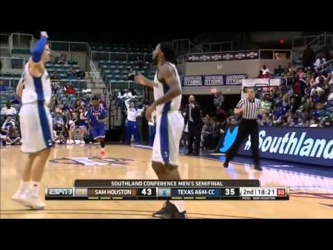 Highlights - Men's Basketball Defeats Sam Houston in the SLC Semis