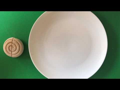 Simple plating up of rum and raisin dessert