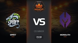 Spirit vs Monolith, dust2, CIS Minor – FACEIT Major 2018