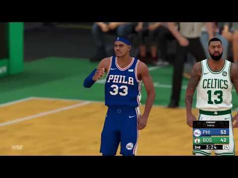 NBA 2K19 Mock League 161018 Celtics vs 76ers