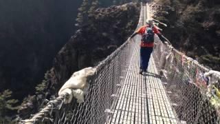 Everest Region (Nepal) Nepal  city images : Highest Suspension Bridge in Everest Region | Nepal | March 2016 - Phakding to Namche Bazaar