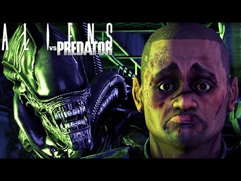 Aliens vs Predator - Encontrei o Predador, Uma Grande Surpresa! | Alien Campanha (#… видео