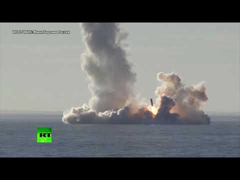 «Юрий Долгорукий» произвёл успешный залповый пуск ракет «Булава» — видео Минобороны России (видео)