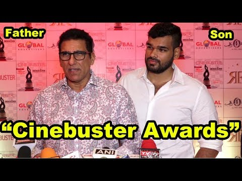 "Mukesh Rishi With His Son At  The Unveiling Of The ""Cinebuster Awards"" 2018"