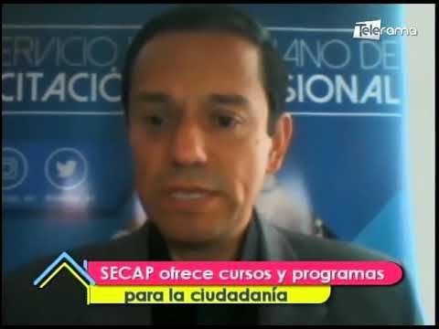 SECAP ofrece cursos y programas para la ciudadanía