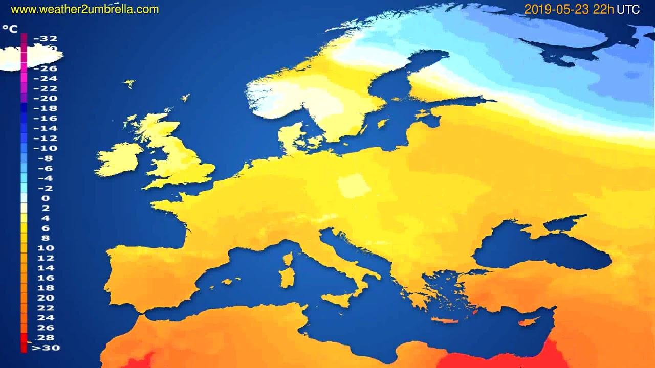 Temperature forecast Europe // modelrun: 12h UTC 2019-05-20