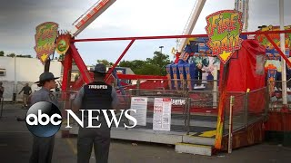 """The father of the victim told ABC News he """"would like to know why it happened if it was supposed to be safe and inspected by everyone"""" as officials investigate why the fair's Fire Ball ride broke apart mid-air."""