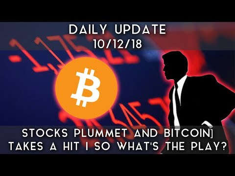 Daily Update (10/12/18) | Stocks plummet & bitcoin take a hit; so what's the play? video