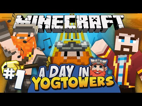 at - Minecraft adventure map fun! It's mine and Simon's first day at Yogtowers, so we have to go through the normal first day proceedings of exploring the insides of a giant computer in order to...